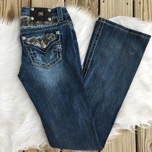 Miss Me Camo Signature Boot Distressed Denim Jeans